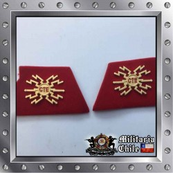 Parches de Cuello Ejercito Telecomunicaciones Chilean Army Neck Patch