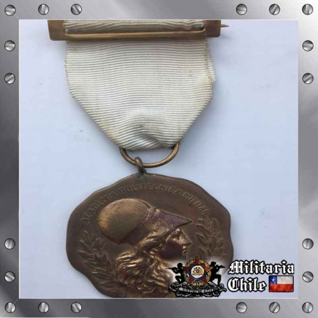 Medalla Minerva Antigua Chilean Army Medal