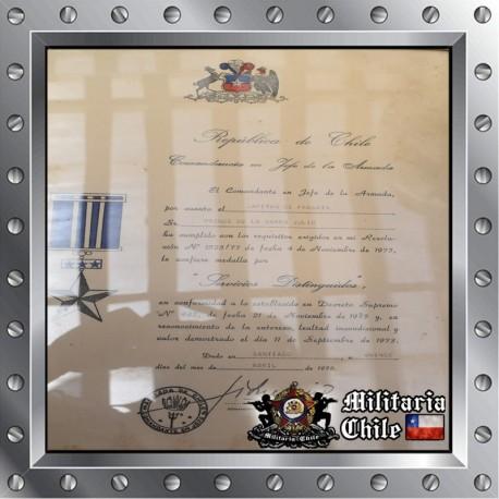 Diploma condecoracion militar firmado por Merino military certificated signed by Merino