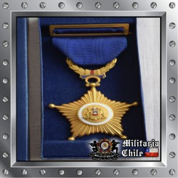 Condecoracion 20 Años Oficial en Caja Completa Officer 20 Years Medal Chilean Army
